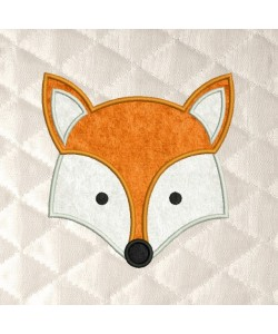 fox face applique