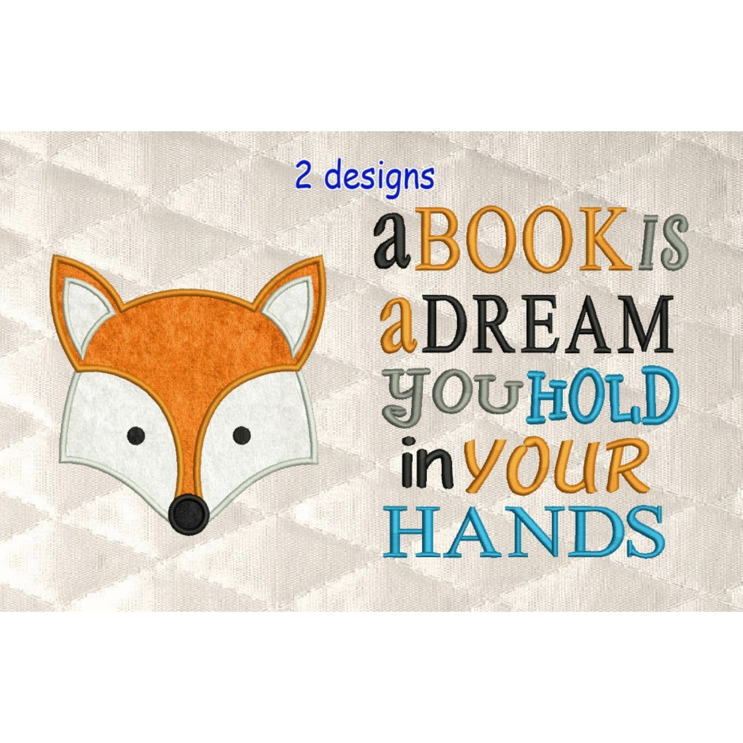 Fox face with a book is a dream