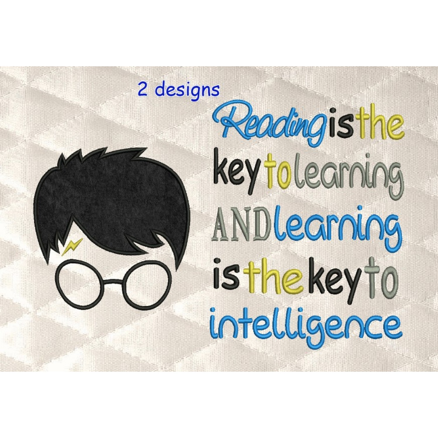 Harry Potter Face with reading is the key to learning