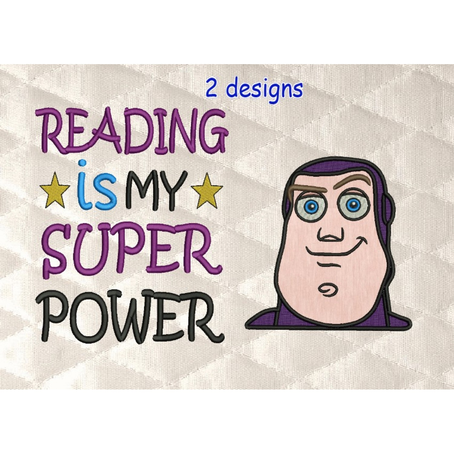 toy story buzz face with Reading is My Super power