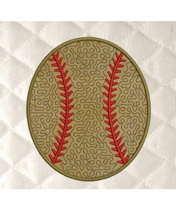 baseball Coasters stippling applique