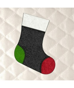 Christmas Stocking stippling applique in the hoop