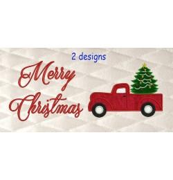 Christmas Truck Merry Christmas