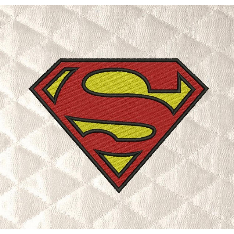 Superman logo embroidery