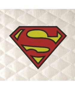 Superman logo embroidery