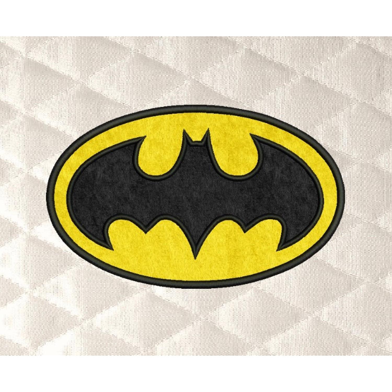 Batman logo applique