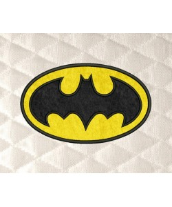 Batman logo applique