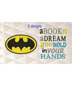 Batman logo with a book is a dream