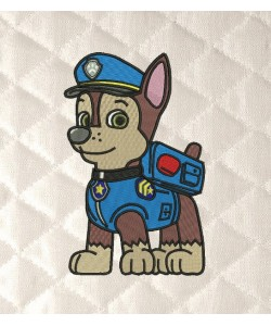 Paw Patrol Chase embroidery