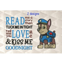 Paw Patrol Chase with read me a story reading pillow