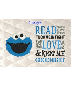 cookie monster with read me a story