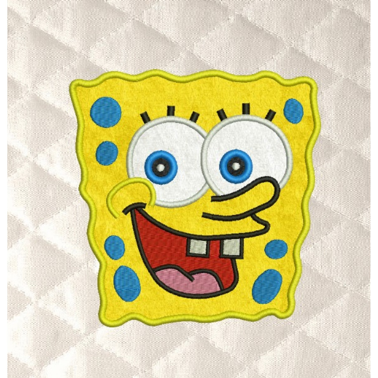spongebob face applique