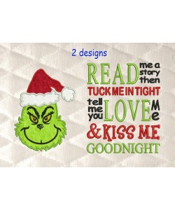 Grinch face with read me a story
