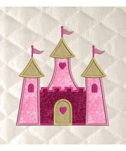 castle princess applique