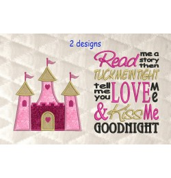 castle princess applique with read me 2 designs 3 sizes