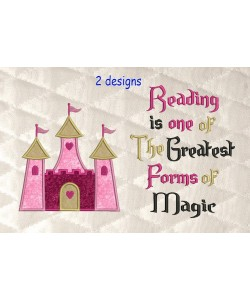 Castle princess with reading is one