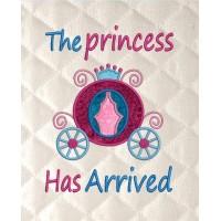 the princess has arrived applique
