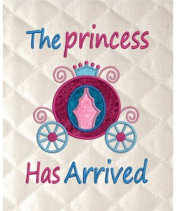 the princess has arrived applique