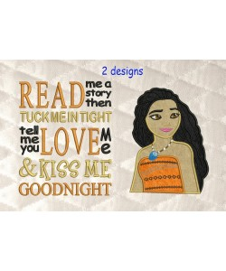 Moana Applique with read me a story