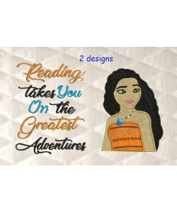 Moana Applique with reading takes you