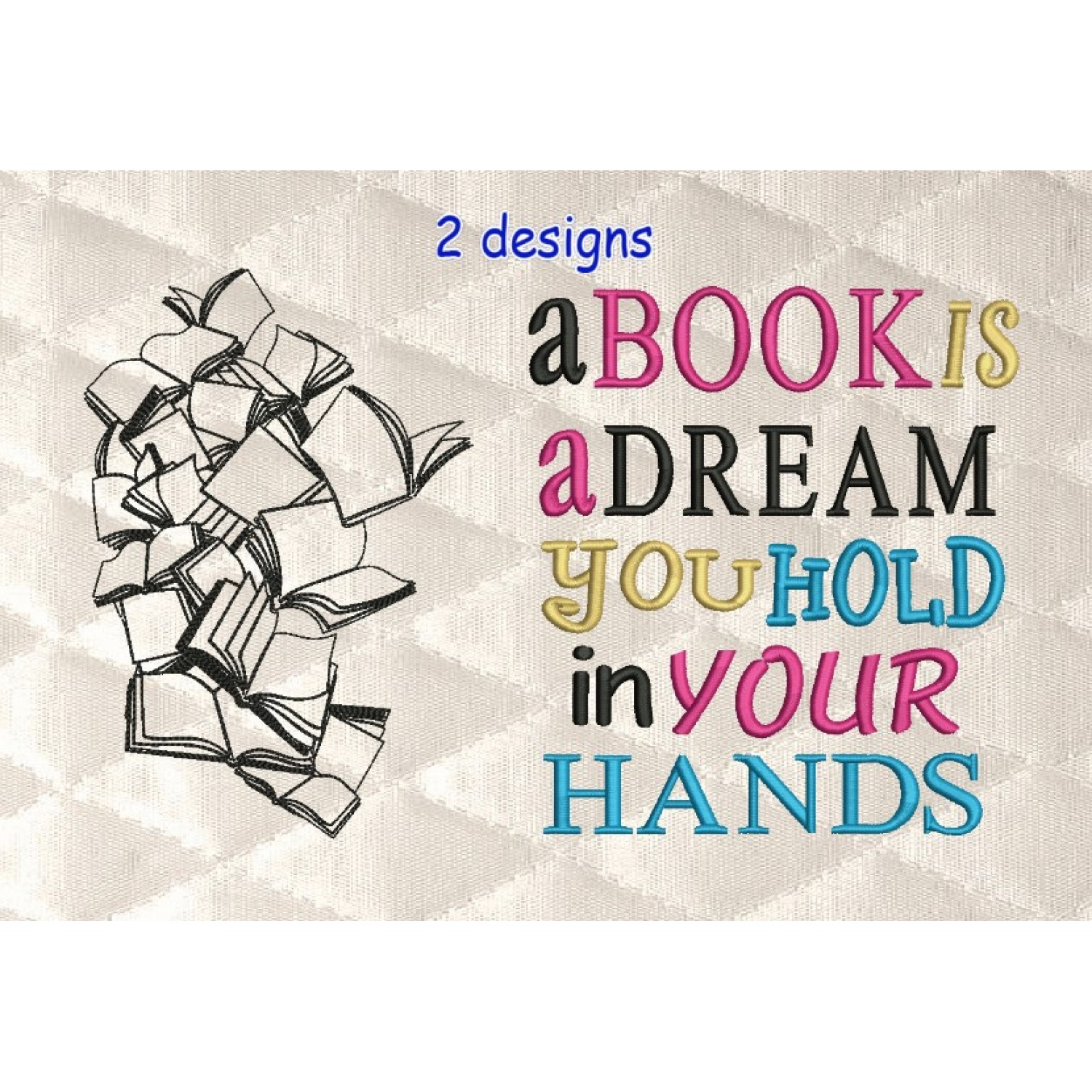 Books line with a book is a dream