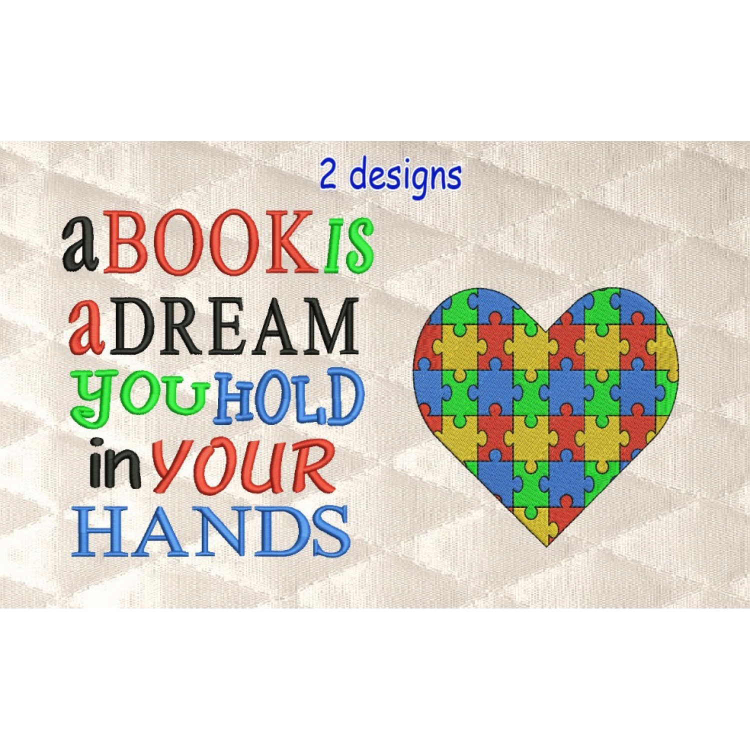 Autism heart with a book is a dream
