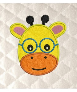 baby giraffe face applique