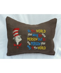 Cat in the hat with To The World