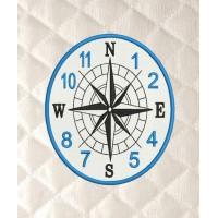 Compass clock in the hoop