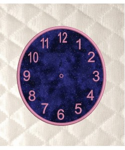 clock embroidery in the hoop applique