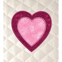 Two hearts applique