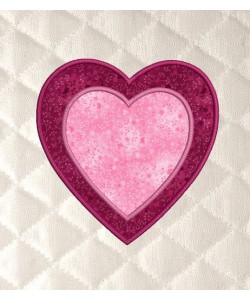 Two hearts applique
