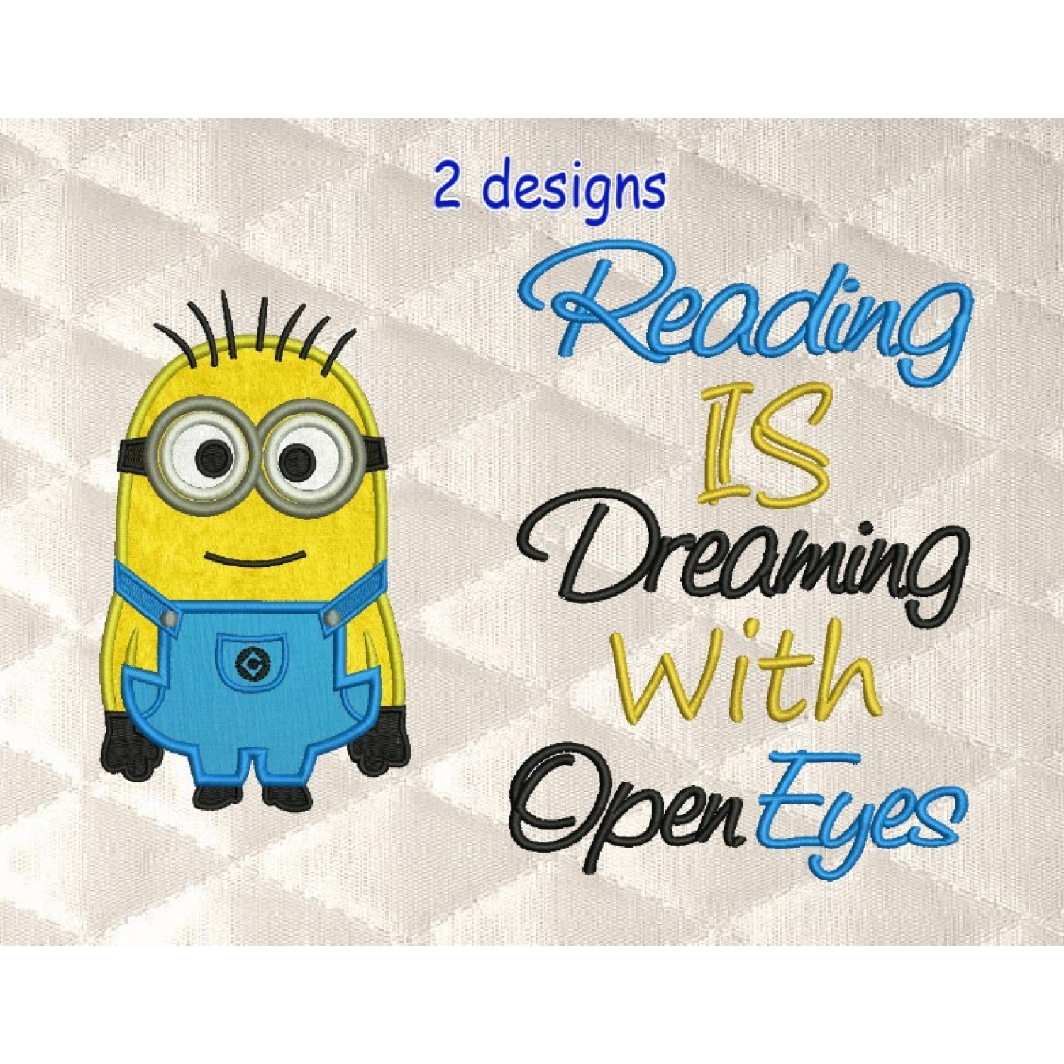 Bob minion with reading is dreaming