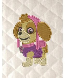 skye paw patrol embroidery