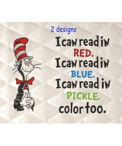Dr-Seuss embroidery with I Can Read