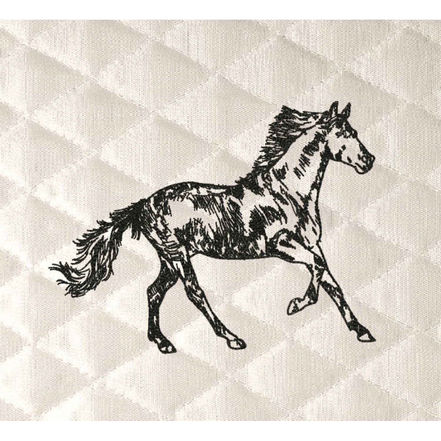 horse line embroidery