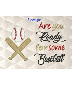 Baseball Applique with Are You Baseball