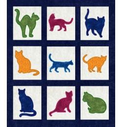 cats applique set 9 designs