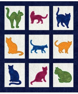 cats applique set 9 designs