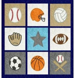 sports quilt applique set 9 designs