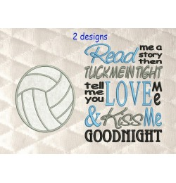 volleyball applique with read me