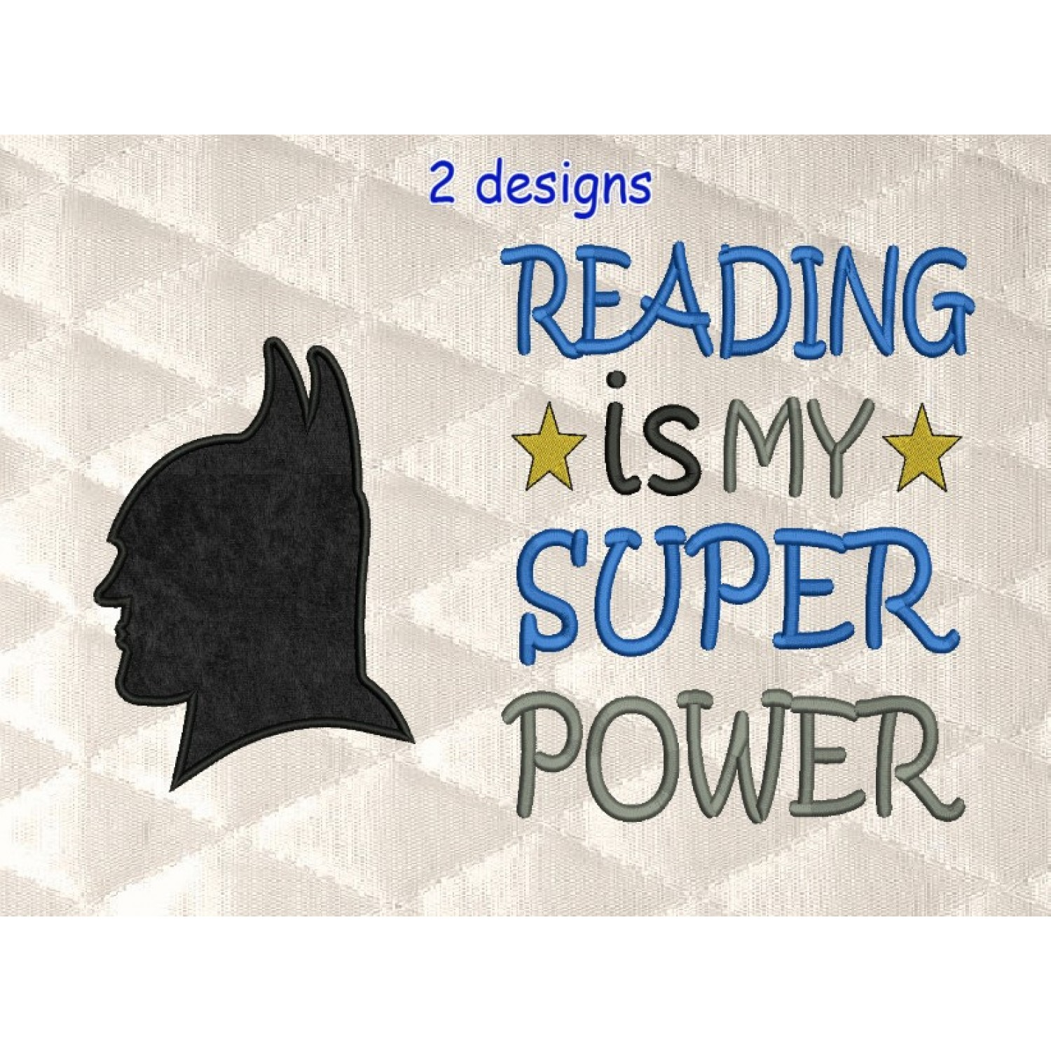 batman mask v2 with reading is my super power