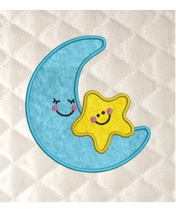 moon and star applique
