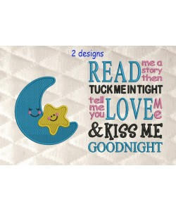 Moon and star with read me a story reading pillow