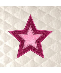 Two star applique