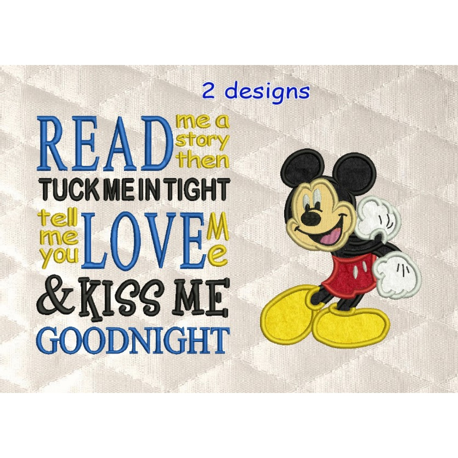 Mickey Mouse with read me a story designs