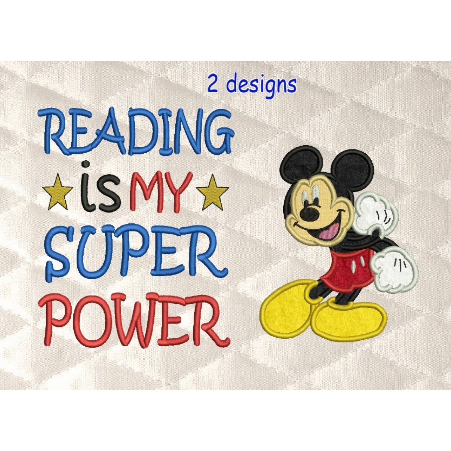 Mickey Mouse with Reading is My Superpower