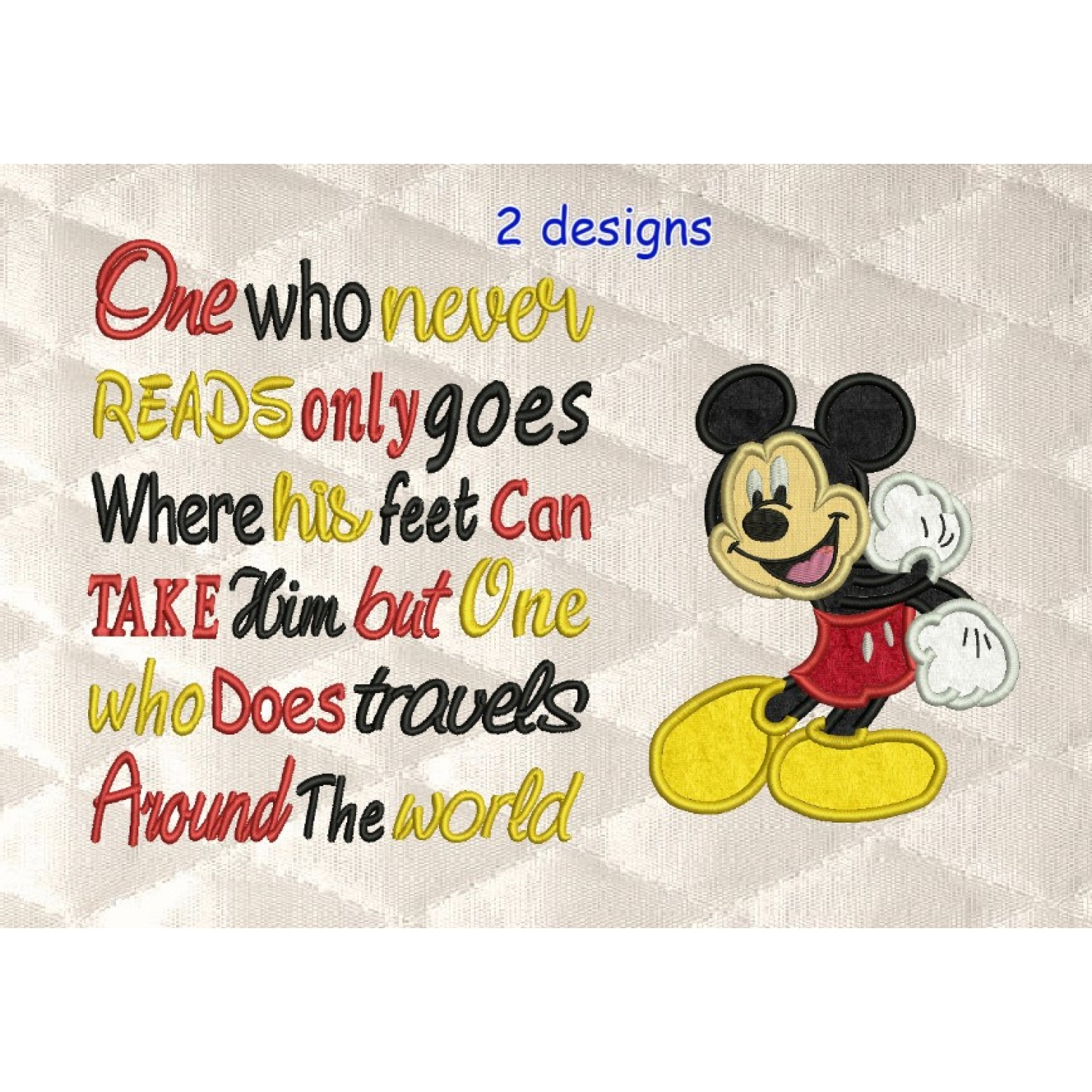 Mickey Mouse with One who never reads