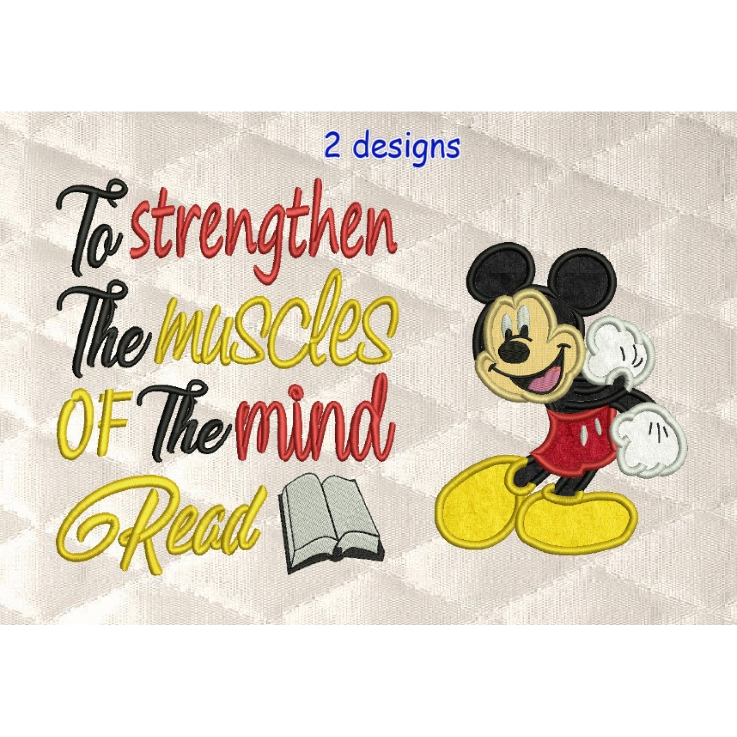 Mickey Mouse with To strengthen
