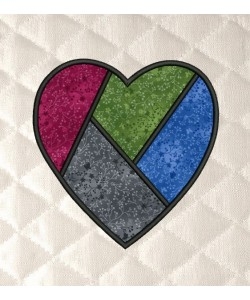 Heart divided coasters applique in the hoop